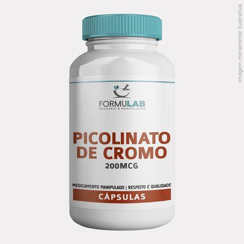 Picolinato de Cromo 200mcg-180 Cápsulas