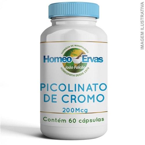 Picolinato de Cromo 200Mcg - 60 Cápsulas
