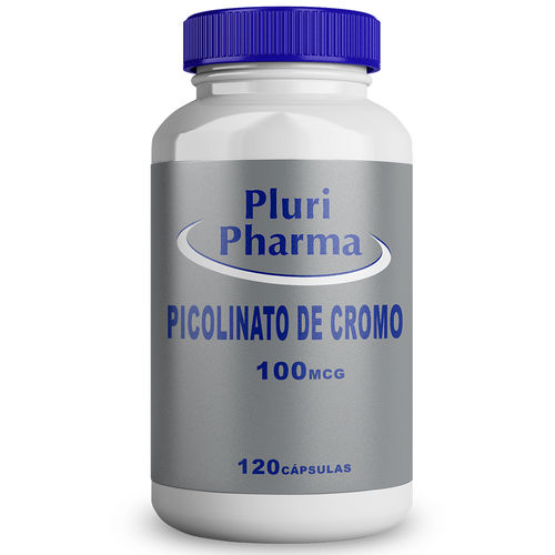 Picolinato de Cromo 100mcg 120 Cápsulas