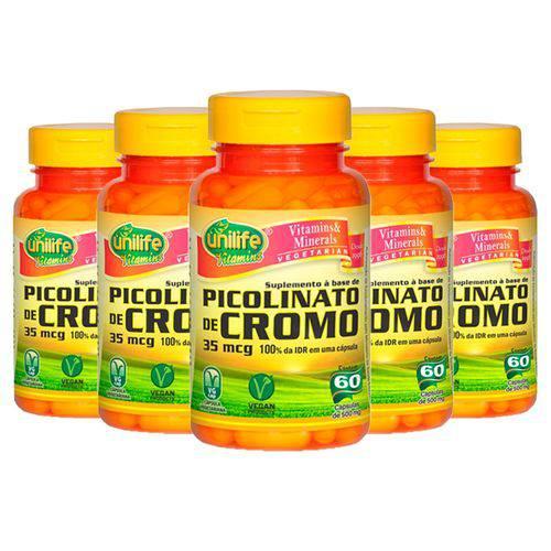 Picolinato de Cromo - 5 Un de 60 Cápsulas - Unilife