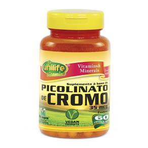 Picolinato de Cromo 550mg - Unilife - Natural - 60 Cápsulas