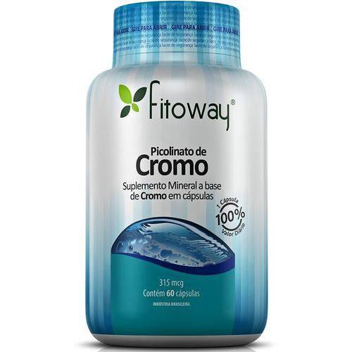 Picolinato de Cromo - 60 Cápsulas - Fitoway