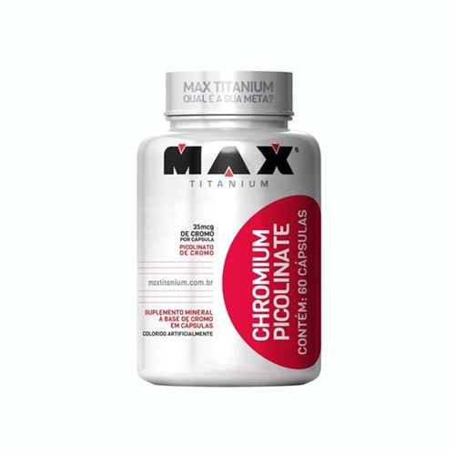Picolinato de Cromo Max Titanium 60 Cápsulas