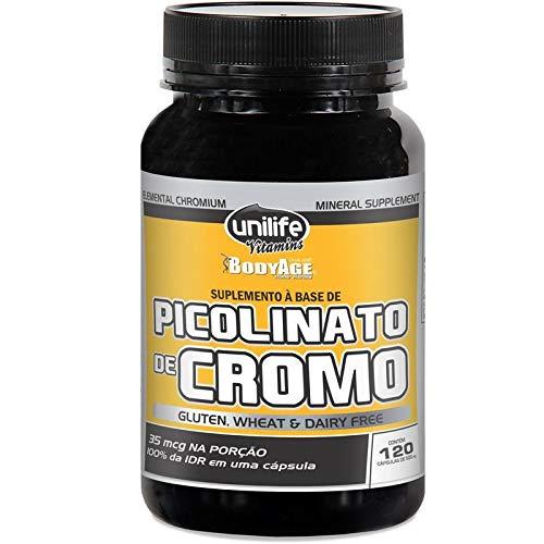 Picolinato de Cromo Unilife 120 Cápsulas