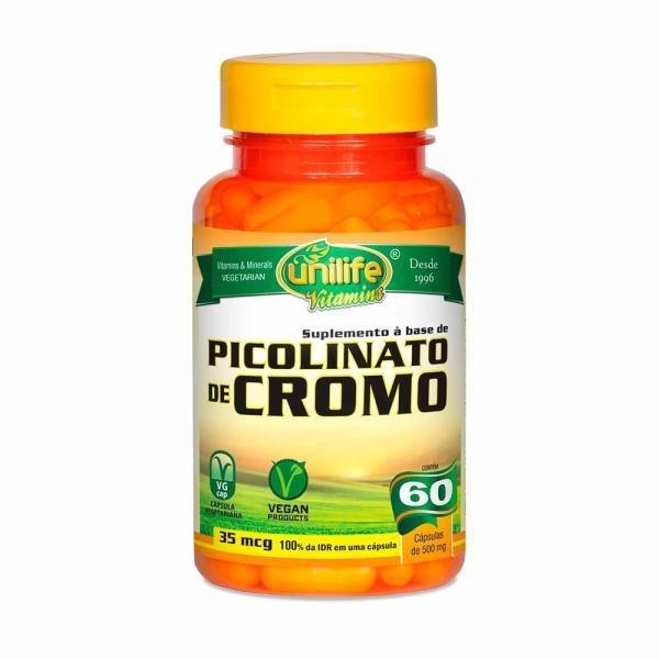 Picolinato de Cromo - Unilife - 60 Cápsulas de 500mg