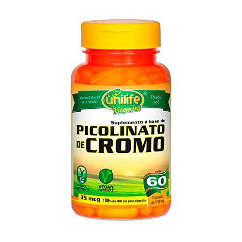 Picolinato de Cromo Unilife 60 Cápsulas de 500mg