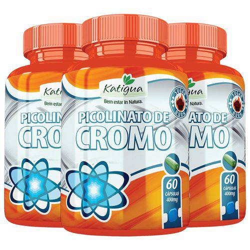 Picolinato de Cromo - 3x 60 Cápsulas - Katigua