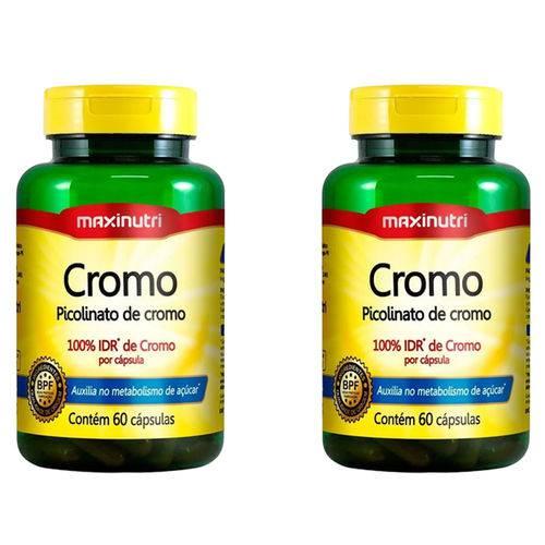 Picolinato de Cromo - 2x 60 Cápsulas - Maxinutri