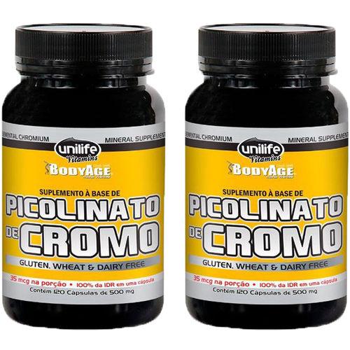 Picolinato de Cromo 2X120 Cápsulas Unilife