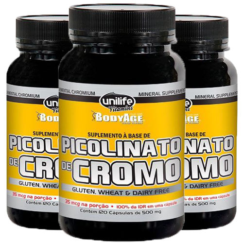 Picolinato de Cromo 3X120 Cápsulas Unilife