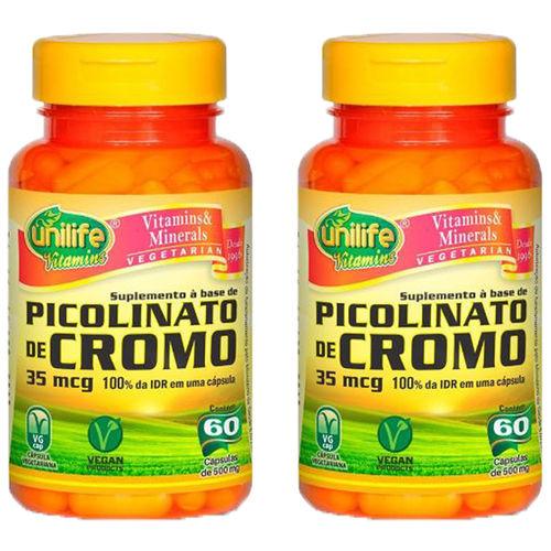 Picolinato de Cromo 2X60 Cápsulas Unilife