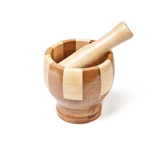 Tudo sobre 'Pilão com Socador em Bambu 4565'