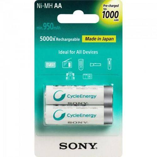 Tudo sobre 'Pilha Recarregavel Aa com 2 1000MAH Nimh Nh-Aa B2RN Sony'