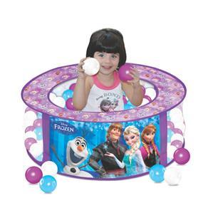 Piscina de Bolinhas Disney Frozen com 100 Bolinhas - Lider Brinquedos - Ref 2286