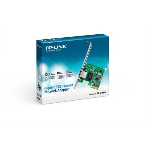 Placa de Rede Pci-Express Gigabit 10/100/1000 | Lan Card Tp-Link Tg-3468 | Pci-E | Interna | Pc