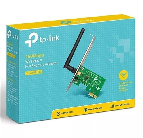 Placa de Rede Pci-Express Wireless 150Mbps Tl-Wn781nd - Tp-Link