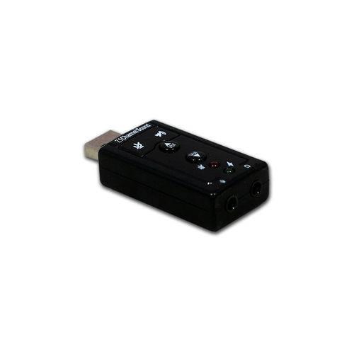 Tudo sobre 'Placa de Som USB 7.1 Dolby Surround Conexão P2'