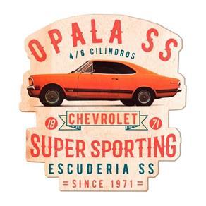 Placa Decorativa de Madeira Opala 1971 Laranja Urban