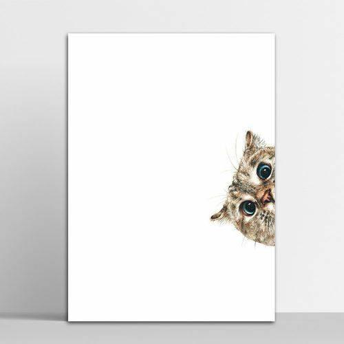 Tudo sobre 'Placa Decorativa Gato 2 30x40cm'