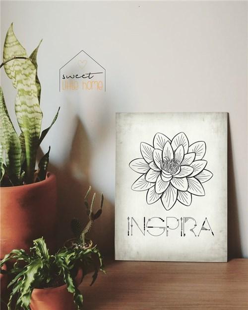 Tudo sobre 'Placa Decorativa - Inspira (30x40cm)'