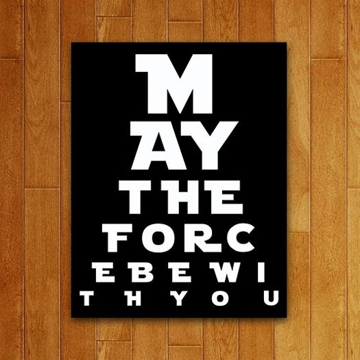 Tudo sobre 'Placa Decorativa May The Force'