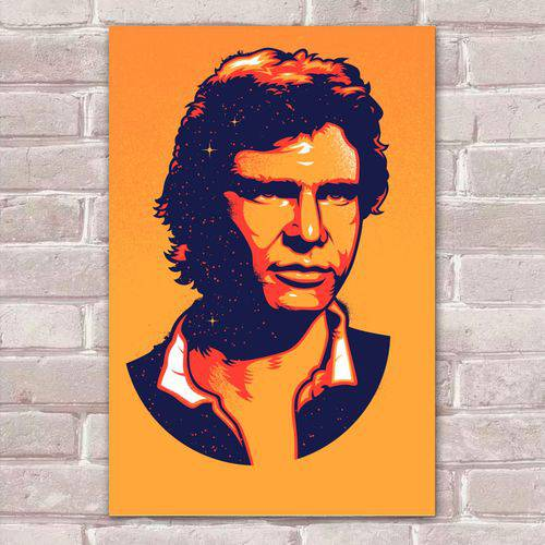 Tudo sobre 'Placa Decorativa Pop Art 45 Han Solo'