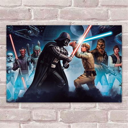 Tudo sobre 'Placa Decorativa Star Wars 6'