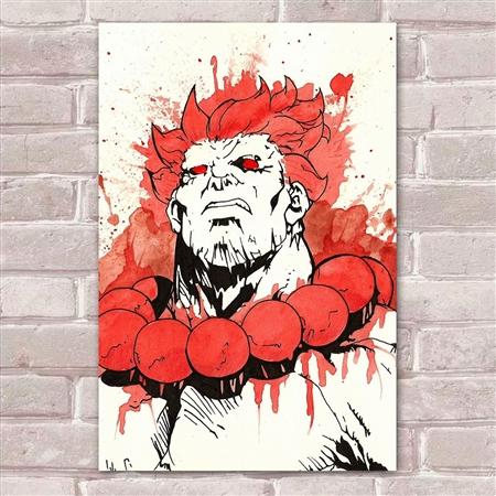 Placa Decorativa Street Fighter 30