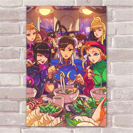 Placa Decorativa Street Fighter 40