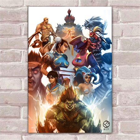 Placa Decorativa Street Fighter 27