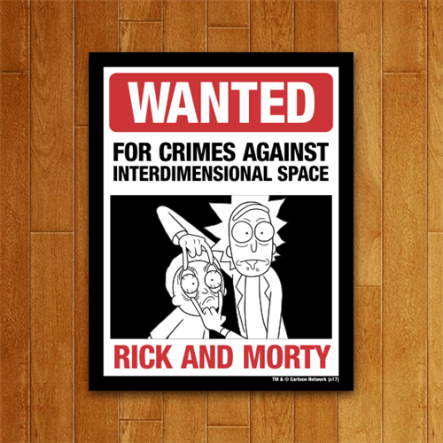 Placa Decorativa Wanted Rick And Morty