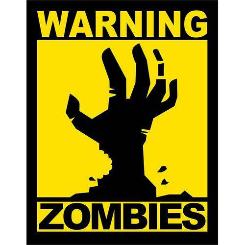 Tudo sobre 'Placa Decorativa Warning Zombies'
