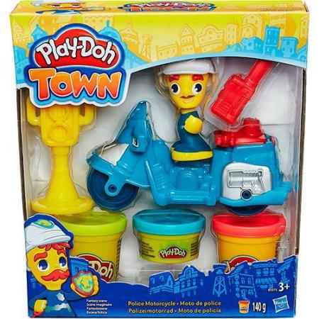 Tudo sobre 'Play Doh Town Moto de Policia - Hasbro'