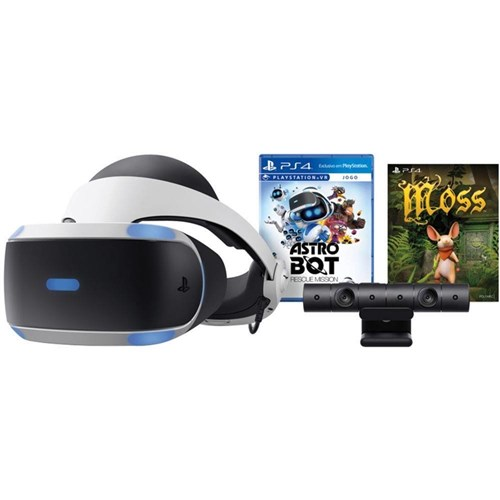 Tudo sobre 'PlayStation VR Bundle Sony Game Astro Bot Rescue Mission + Moss'