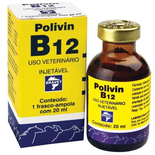 Polivin B12 Injetável 20 Ml Bravet