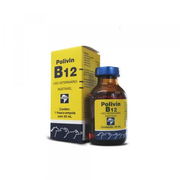 Polivin B12 Injetável - 20 Ml - Bravet