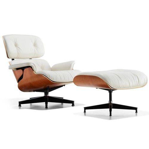 Tudo sobre 'Poltrona Charles Eames com Puff Branco'