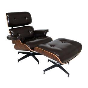 Tudo sobre 'Poltrona Charles Eames com Puff - Preto'