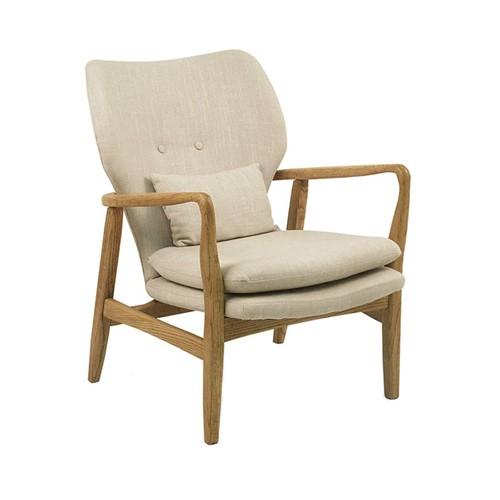 Tudo sobre 'Poltrona Dinamarca Linho - Wood Prime AM 4033'