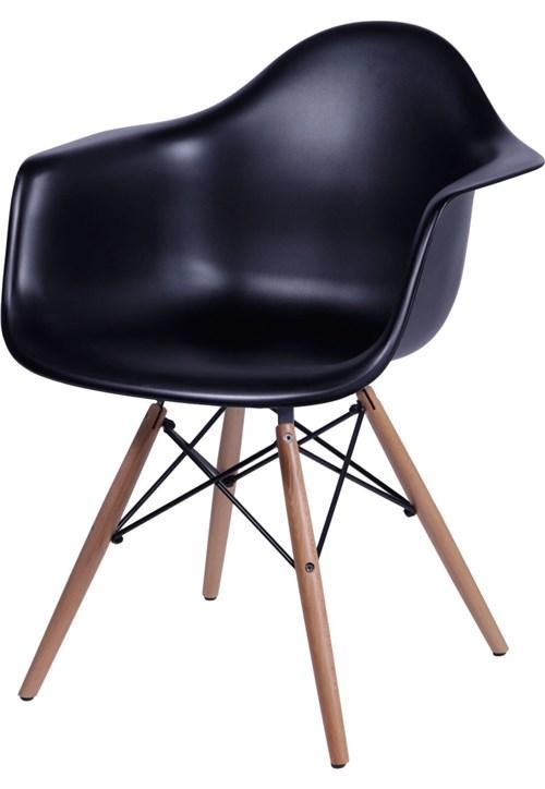 Poltrona Eames DAR com Braço OR Design Preto