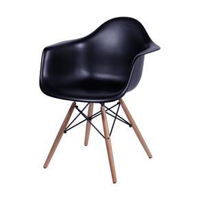 Poltrona Eames DAR com Braço Preta - Or Design - Preto