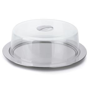 Porta Bolo em Aço Inox Vision 2 Peças - Forma