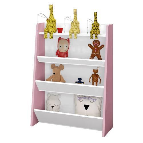 Tudo sobre 'Porta Brinquedo Teco Branco/rosa Móveis Estrela'