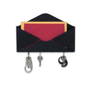 Porta Chaves e Correspondências Envelope Preto