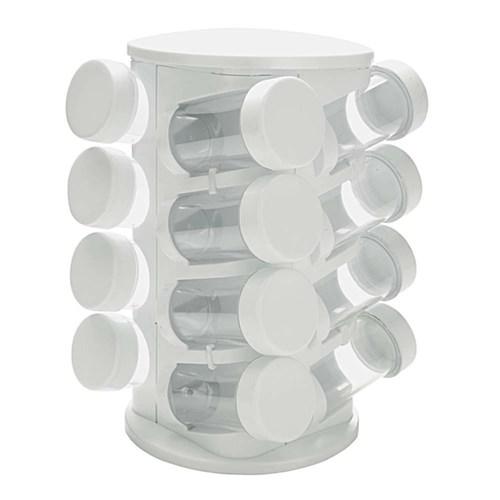Porta Condimentos Mimo Style com 16 Peças ¿ Branco