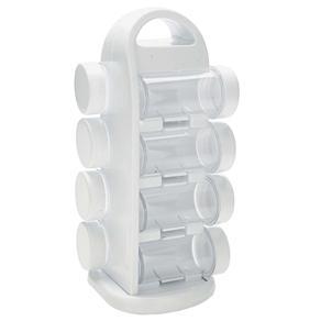 Porta Condimentos Mimo Style com 8 Peças - Branco