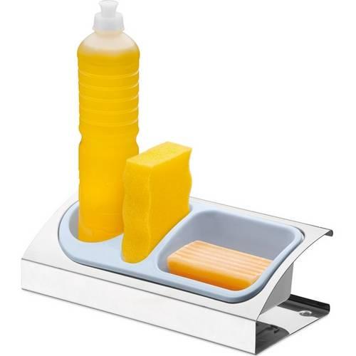 Porta Detergente e Sabão em Aço Inox Suprema Brinox