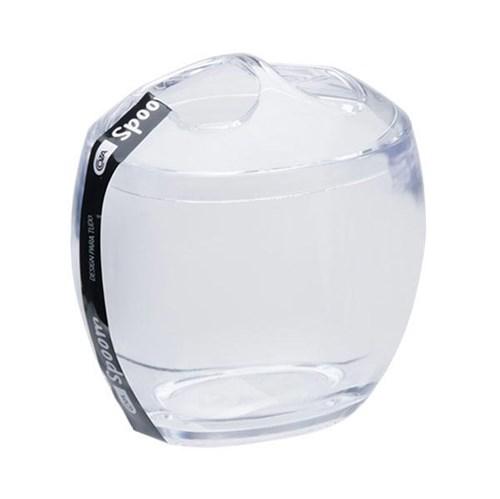Porta Escova de Dente Transparente em Plástico Spoom Coza