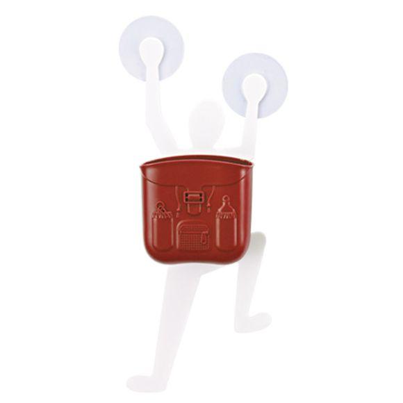 Porta Escova de Dente Vermelho Basic Kitchen