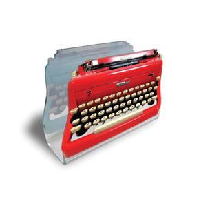Porta Guardanapo Máquina de Escrever - Vermelho - VERMELHO